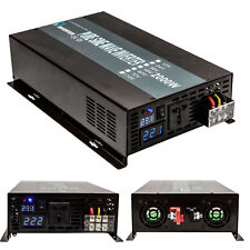 Solar Inverter 2000W 12/24/48V DC to 110/220V AC Pure Sine Wave Power Inverter