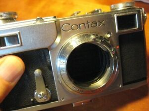 Pre-War Zeiss Ikon Contax II, Excellent, Viewfinder Cleaned