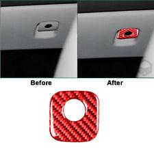 Red Carbon Fiber Glove Box Handle Cover Trim For Chevrolet Corvette C6 2005-2007