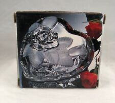 Home Beautiful Rose Pearls Crystal Heart Covered Jewelry Box  Mother's Day Gift