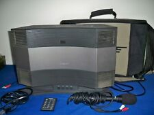 BOSE CD-3000 Acoustic Wave Music System w/ Pedestal Carry Case Remote & Mic