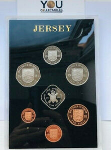 1981 Jersey Proof 7 Coin Collection Set: 1/2 Penny to £1 Pound by Royal Mint
