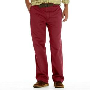 Haggar Men's Relaxed Straight Fit Flat Front Chino Pant, 34/34, 34/29
