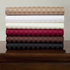 Royal Mystique Flat Fitted Sheet Set Sateen Stripe 2 Pillowcase 300 Thread Count