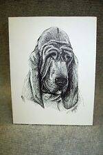 Blood Hound Pen and Ink Stationary Cards, Note Cards, Greeting Cards. 10 pack.