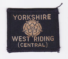 BRITISH UNITED KINGDOM UK SCOUT YORKSHIRE WEST RIDING CENTRAL COUNTY BADGE E+++