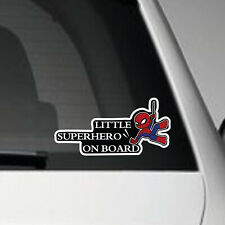LITTLE SUPERHERO ON BOARD V2 - VINYL ADHESIVE CAR DECAL STICKER