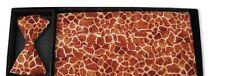 Giraffe Skin Cummerbund and Bow Tie Set