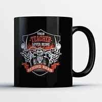 Teacher Coffee Mug - Teacher Behind Bars - Adorable 11 oz Black Ceramic Tea Cup
