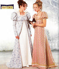 Butterick Sewing Pattern Regency Costume Miss 18 20 22 Dress Coat UNCUT 6630