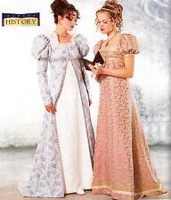 Regency Costume Miss 18 20 22 Butterick Sewing Pattern Dress Coat UNCUT 6630