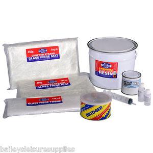Premium Fibreglass Repair Kit GRP 2.5kg  Includes Filler / Tissue / Gelcoat