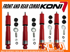 KONI ADJUSTABLE FRONT REAR SHOCK ABSORBERS FOR TOYOTA LANDCRUISER 100 SERIES IFS