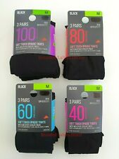 LADIES 40/60/80/100 DENIER APPEARANCE WEATHER SENSOR FINISH OPAQUE TIGHTS 3 PAIR