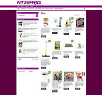 PET SUPPLIES  UK WEBSITE WITH ONE YEARS HOSTING + NEW FREE DOMAIN - ECOMMERCE