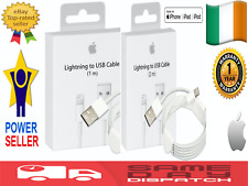 ORIGINAL GENUINE APPLE 1M 2M IPHONE 5 6 7 8 X, IPAD LIGHTNING USB CHARGER CABLE