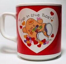 Vintage Fall In Love Today! Kiss A Human Being 1982 Enesco Human Beans Mug