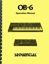 Sequential OB-6 Analog Synthesizer Keyboard OWNER'S MANUAL