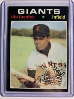 2020 TOPPS HERITAGE Tito Fuentes 1971 50TH ANNIVERSARY STAMPED BUY BACK #378
