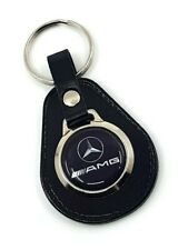 Mercedes AMG  Leather keyring, Black