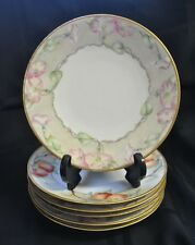 Limoges Dishes Set of 6 Assorted Hand Painted Limoges Dessert Dishes