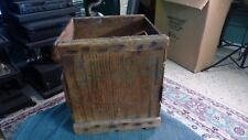 Vintage PEP WOOD EGG CRATE New York Collector W/ Patina & Repairs