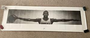 "Vintage 1989 Michael Jordan Nike ""WINGS"" Poster 24 X 76 1st Print-No Frame"