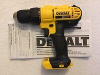 """New Dewalt DCD771B 20 Volt 20V Max 1/2"""" 2 Speed Drill Driver Li-ion Cordless"""