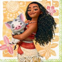 MOANA BEVERAGE NAPKINS PACK OF 16 BIRTHDAY PARTY SUPPLIES