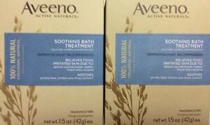 **NEW SEALED**! AVEENO ACTIVE NATURALS SOOTHING BATH TREATMENT FRAGRANCE FREE