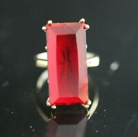 Turkish Handmade Sterling Silver 925 Ruby Ring Ladies 7,8,9