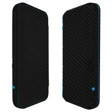 Skinomi Black Carbon Fiber Skin+Clear Screen Protector For Nintendo 2DS XL