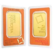 50 gram Gold Bar Valcambi Suisse .9999 Fine (In Assay)