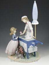 Lladro Figurine ICE CREAM VENDER SELLER BOY GIRL DOG UMBRELLA #5325 Retired Mint