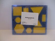 Yellow Attribute Blocks Set of 60 School Supplies, Home School, Educational