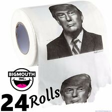24 DONALD TRUMP TOILET PAPER Rolls - wholesale case lot  (2 dozen) Big Mouth Inc