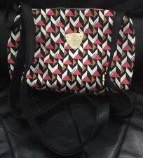 Bani Rabbit Hello Kitty Designer Retro Rockabilly Pink Geo Print Cross Body Bag
