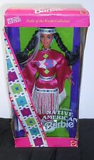 Native American Barbie Doll, 1994 Dolls Of The World, 1994 Ed. Displayed In Box!
