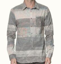 EZEKIEL Men's BORA BORA L/S Button-Up Shirt - GRY - Small - NWT