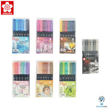 Sakura Koi Coloring Brush Pen | Lettering Calligraphy| 6 Assorted Colour Pen Set