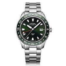 Rotary GB05108-24 Men's Henley Green GMT Wristwatch