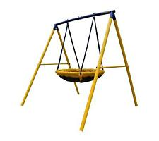 Zero Gravity UFO Kids Swing Set With Sturdy Metal Frame for up to 2 children