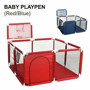 Portable Interactive Safety Child Kids Baby Toddler Fence Cage Play Mat Playpen