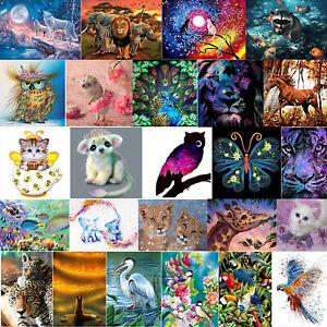 DIY 5D Diamond Painting Embroidery Cross Craft Stitch Art Kit Home Decor Animals