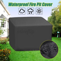 Fire Pit Square Cover Outdoor Dustproof Waterproof Protector Patio 82*82*61cm