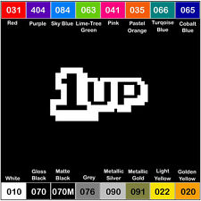 1UP Mario Vinyl Decal Sticker Window Car 1 Up Truck Drift JDM