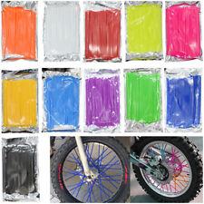 Universal Motorcycle Spoke Wrap Kit Wraps Skin Covers Custom Rim Wheel Protector
