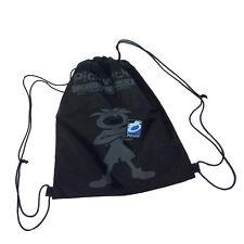 PICKWICK Bolsa mochila con cordón de tela negro dibujo gris 36,5x42 cm