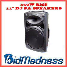 "NEW PORTABLE 350W RMS 12"" DJ / PA ACTIVE SPEAKERS, USB/SD/MMC / GUITAR/MIC INPUT"