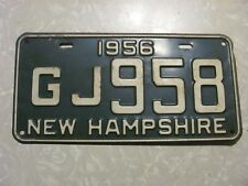 1956  NEW HAMPSHIRE LICENSE PLATE  FREE SHIPPING